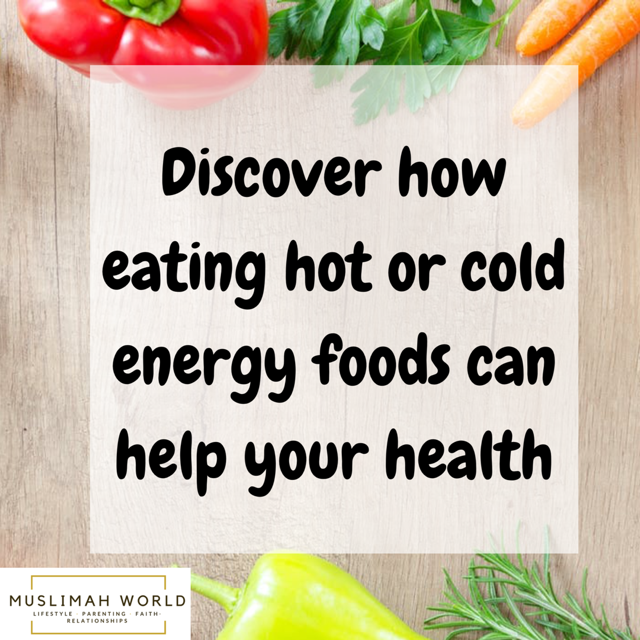 hot cold energy foods